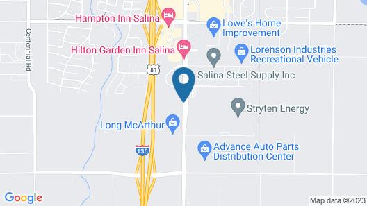 Hilton Garden Inn Salina Map