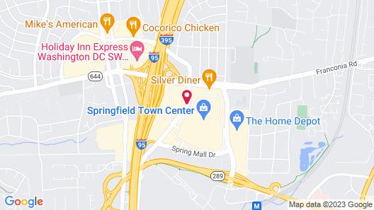 Hilton Springfield Map