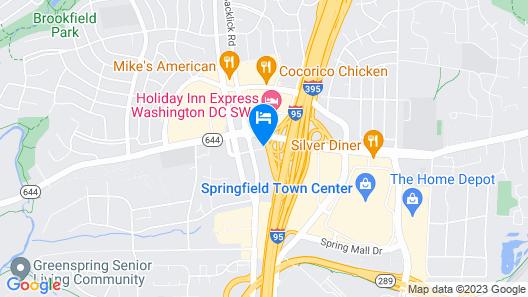 Motel 6 Springfield, DC - Washington Southwest Map