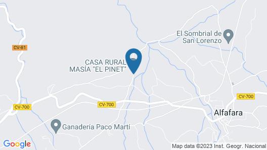 Casa Rural Masia El Pinet Map