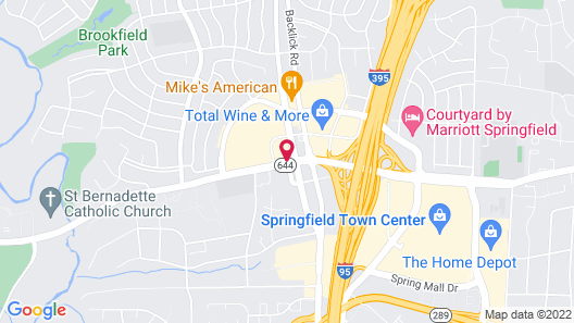 Homewood Suites Springfield VA Map
