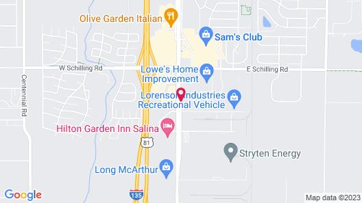 Holiday Inn Salina, an IHG Hotel Map
