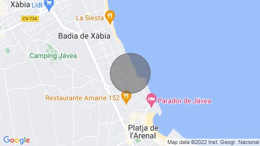 Aparment in  first sea line with sea views in Javea Map