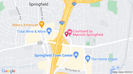 Courtyard by Marriott Springfield Map
