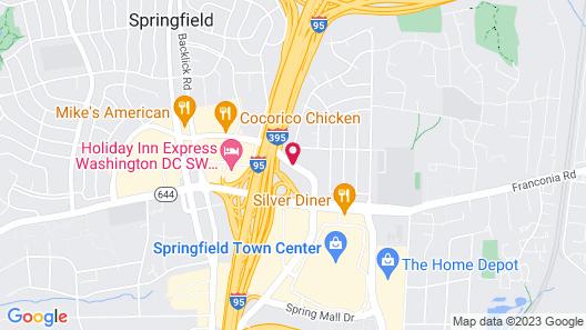 Best Western Springfield Map