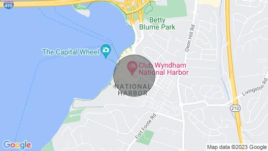 Three Bedroom Deluxe Luxury Condo, National Harbor Map