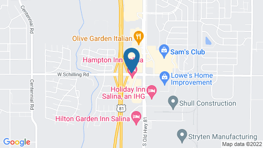 Hampton Inn Salina Map