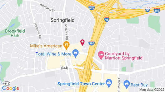 TownePlace Suites by Marriott Springfield Map