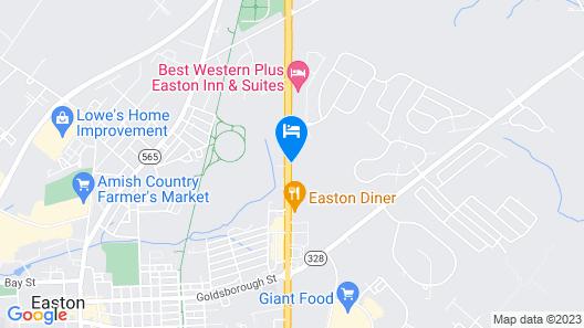 Holiday Inn Express Easton Map