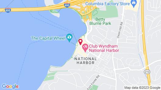 Residence Inn National Harbor Washington, DC Area Map