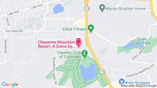 Cheyenne Mountain Resort, A Dolce by Wyndham Map