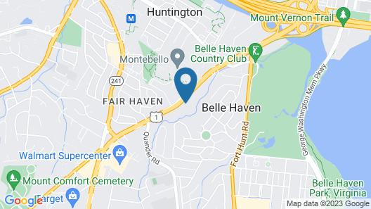 Holiday Inn Express & Suites Alexandria - Fort Belvoir, an IHG Hotel Map