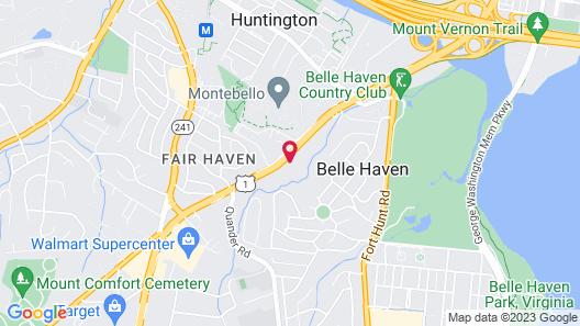 Holiday Inn Express & Suites Alexandria - Fort Belvoir Map