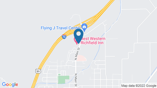 Best Western Richfield Inn Map