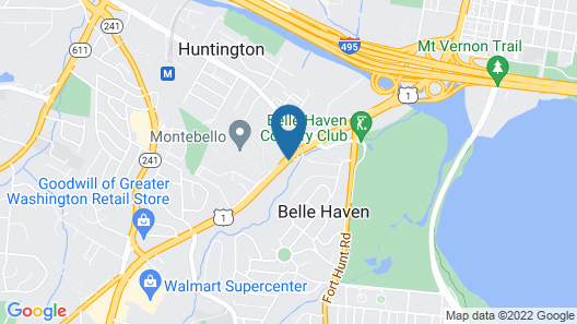 Red Roof Inn PLUS+ Washington DC - Alexandria Map