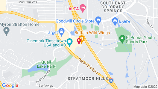 Hampton Inn & Suites Colorado Springs/I-25 South Map