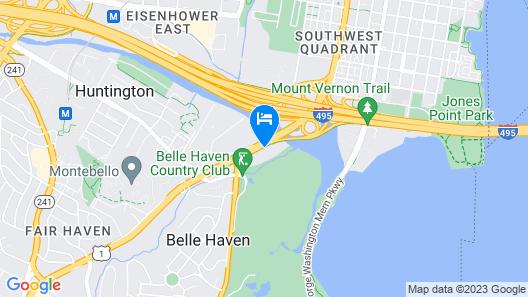 Hampton Inn & Suites Alexandria Old Town Area South Map