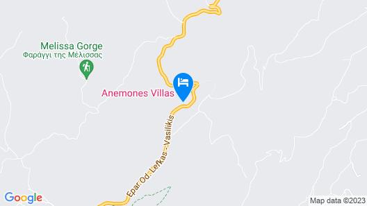 Anemones Villas Map