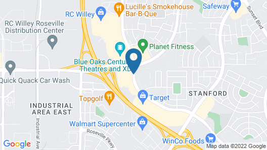 TownePlace Suites by Marriott Sacramento Roseville Map