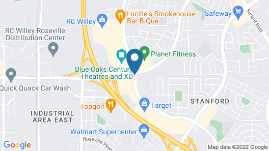SpringHill Suites by Marriott Roseville Map