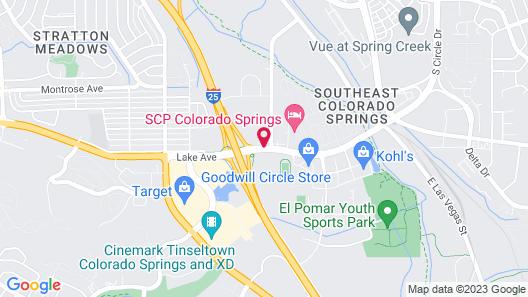 Hotel Elegante Conference & Event Center Colorado Springs Map