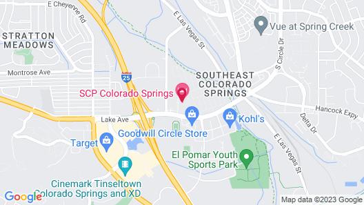 SCP Hotel Colorado Springs Map