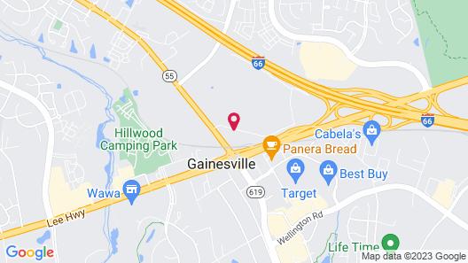 WoodSpring Suites Gainesville VA Map