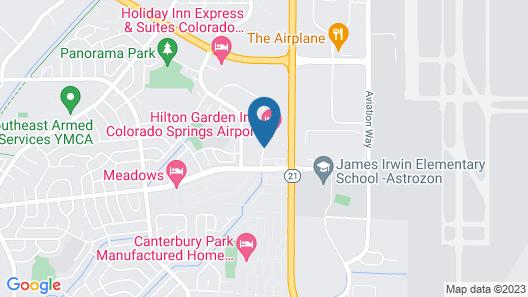 Quality Inn Colorado Springs Airport Map