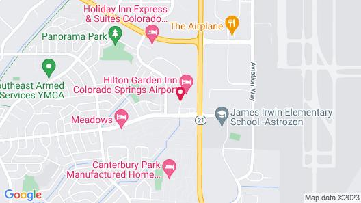 Hampton Inn Colorado Springs Airport Map