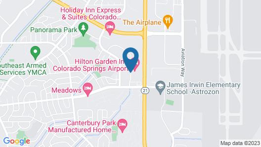 Hilton Garden Inn Colorado Springs Airport Map