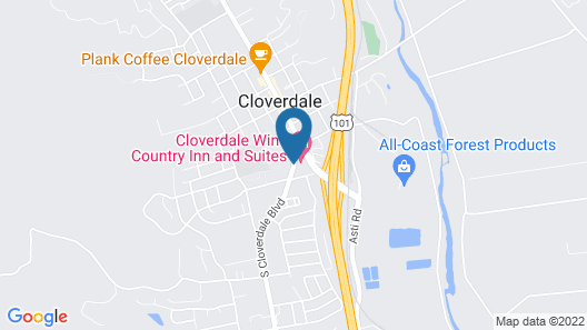Cloverdale Wine Country Inn & Suites Map