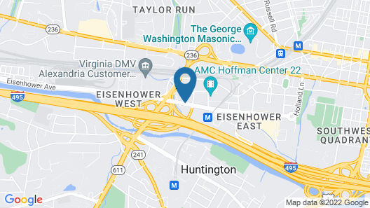 Courtyard by Marriott Alexandria Old Town/Southwest Map