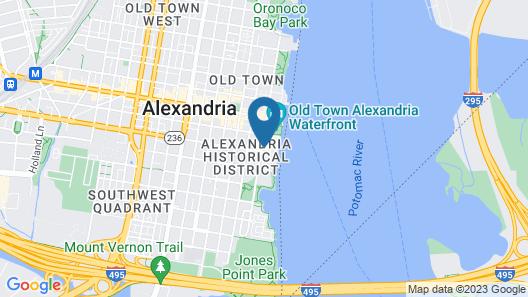 Hotel Indigo Old Town Alexandria Map