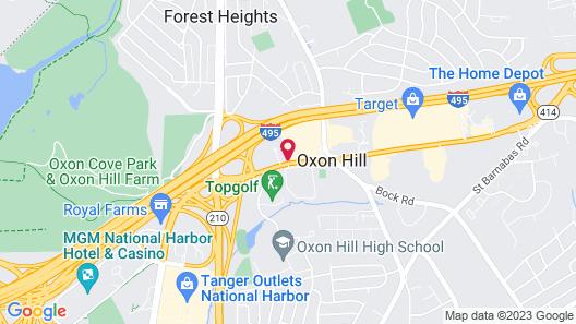 Comfort Inn Oxon Hill Map