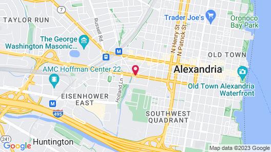 Residence Inn Alexandria Old Town/Duke Street by Marriott Map