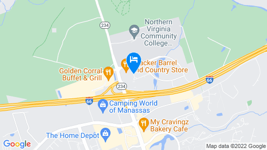 Courtyard by Marriott Manassas Battlefield Park Map