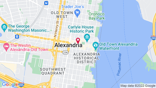 The Alexandrian Old Town Alexandria, Autograph Collection Map