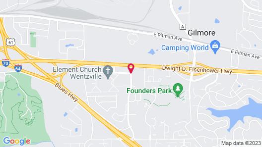 Ramada by Wyndham Wentzville Map