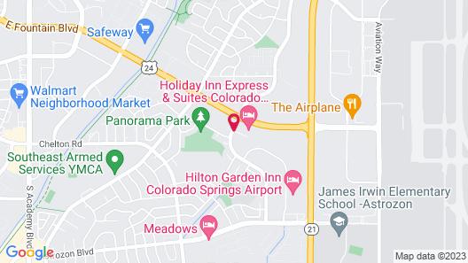 Holiday Inn Colorado Springs Airport, an IHG Hotel Map
