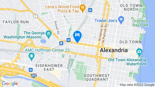 Hampton Inn Alexandria/Old Town Map