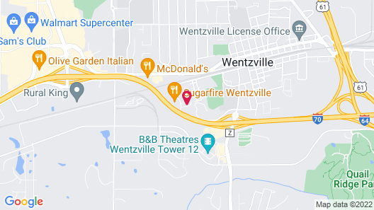 Holiday Inn Express & Suites Wentzville St Louis West Map