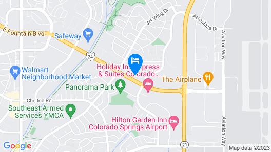 Super 8 by Wyndham Colorado Springs Airport Map