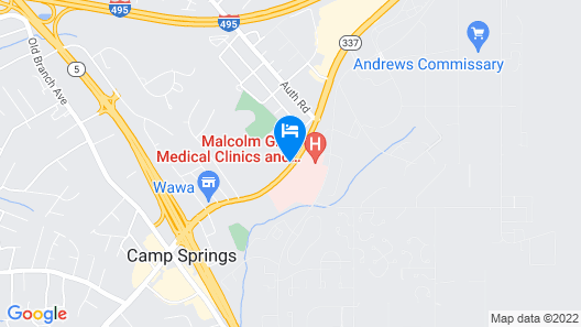 Motel 6 Camp Springs, DC - South Camp Springs Map