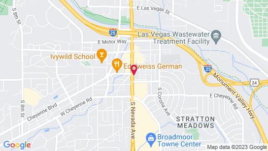 Stagecoach Motel Colorado Springs Map
