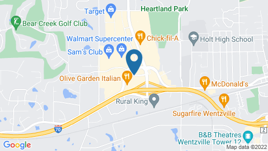 Fairfield Inn & Suites Wentzville Map