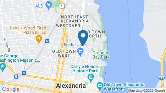 Sheraton Suites Old Town Alexandria Map