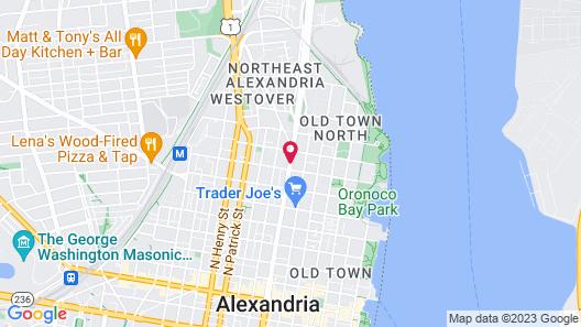 Towne Motel Alexandria Map