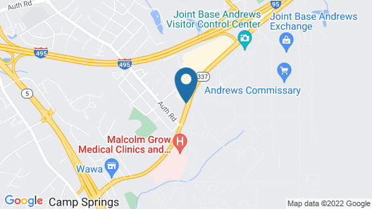 Super 8 by Wyndham Camp Springs/Andrews AFB DC Area Map