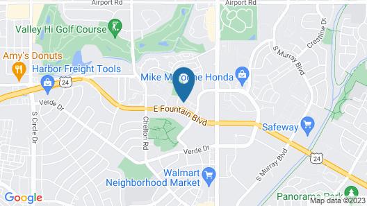 HomeTowne Studios by Red Roof - Colorado Springs Airport Map