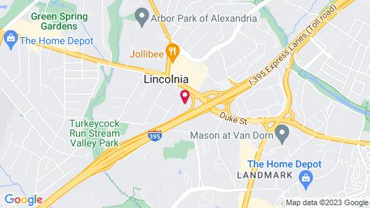 Super 8 by Wyndham Alexandria/Washington D.C. Area Map